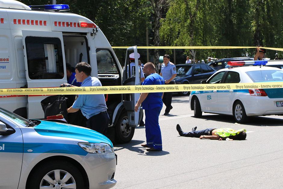 攻击在哈萨克人市导致了5个人死亡阿尔玛蒂